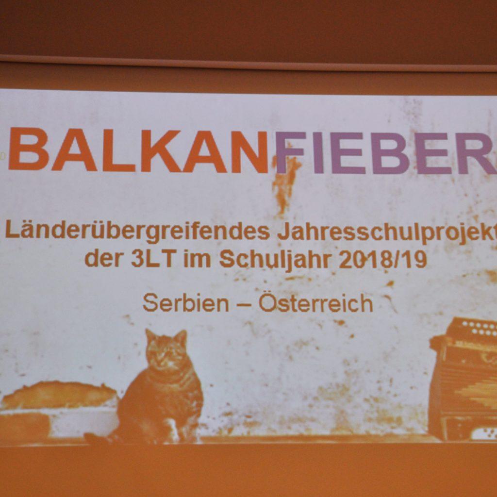 Schulprojekt zu Balkanfieber
